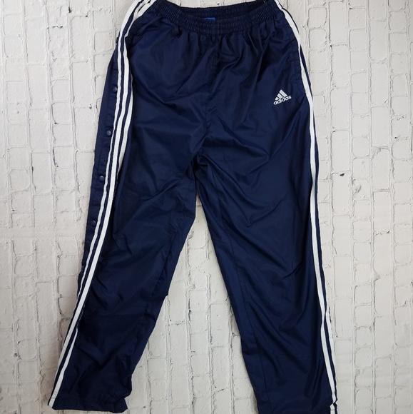 Reflexión medida confirmar  adidas Pants | Vintage Adidas Snap Button Nylon Athletic Pants | Poshmark